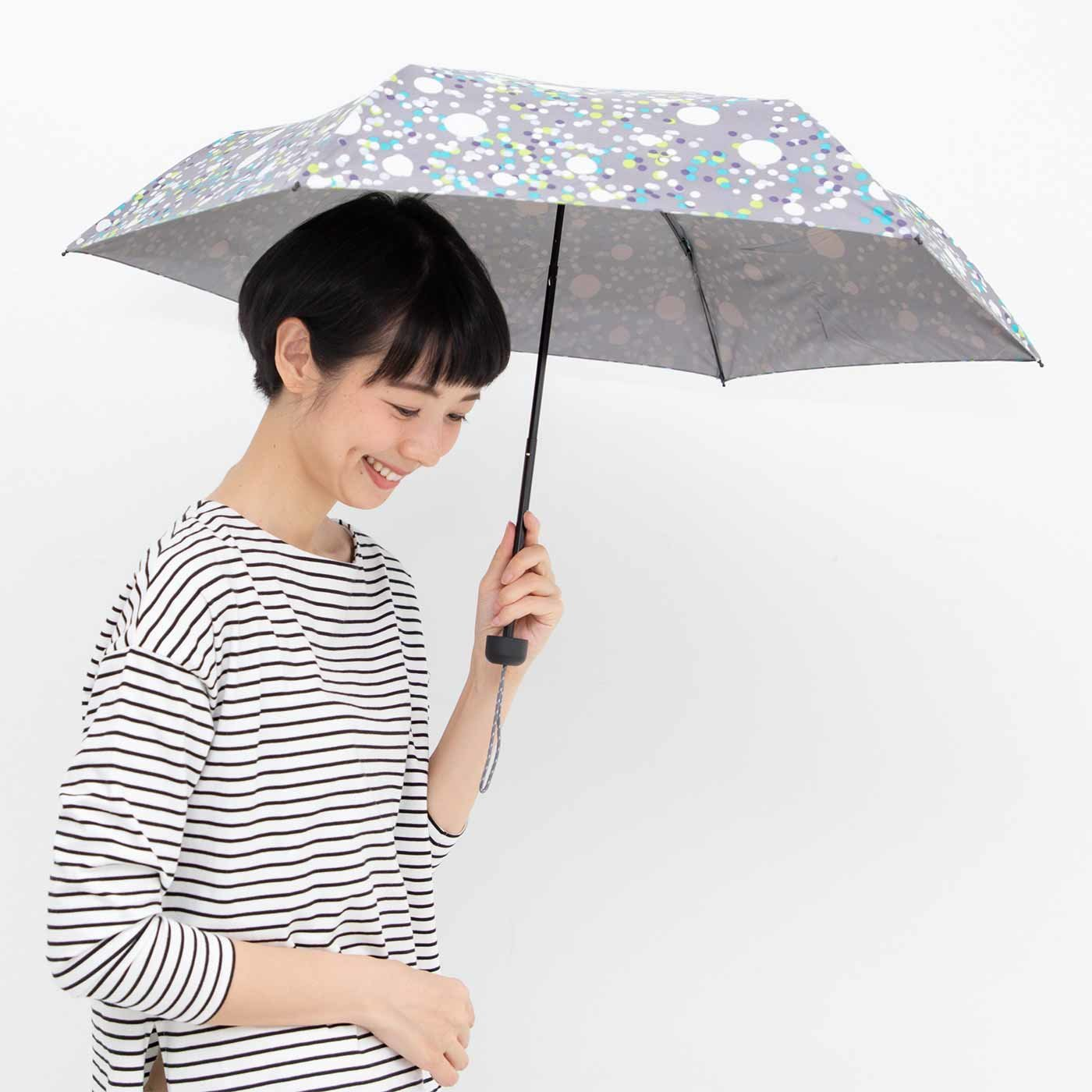 紫外線99%カット クールに決まる 晴雨兼用3段折りたたみ傘の会