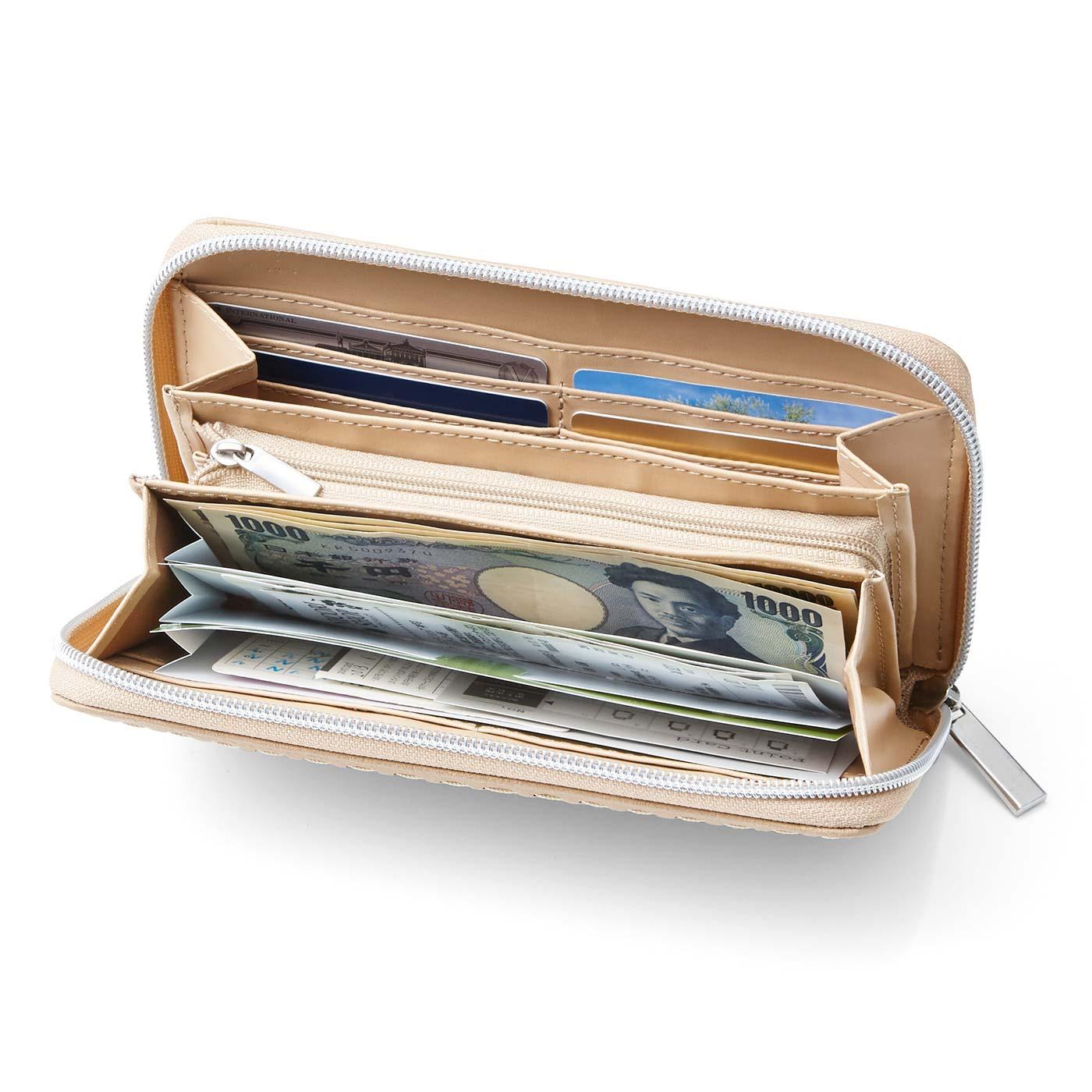お手持ちの財布がじゃばら財布に変身。仕分けるとすっきり!