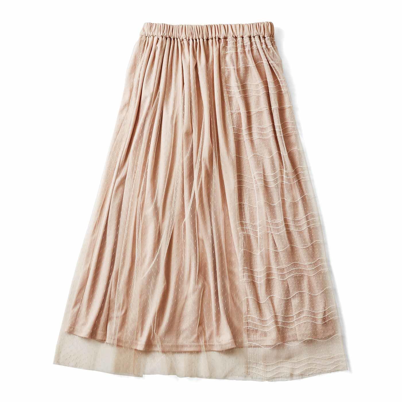 ふんわりチュールのドッキングスカート