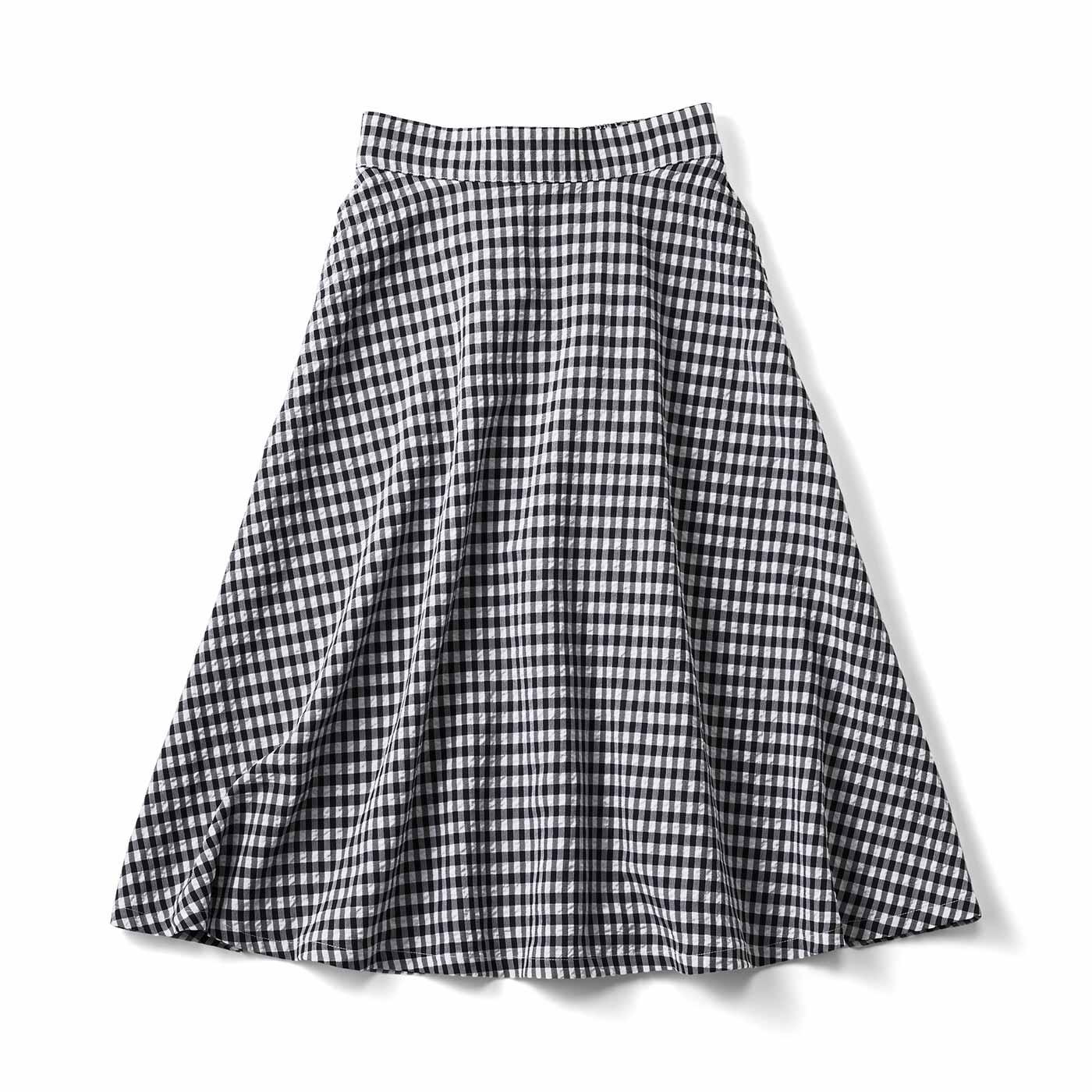 【3~10日でお届け】くるっと回りたくなる ギンガムフレアースカート