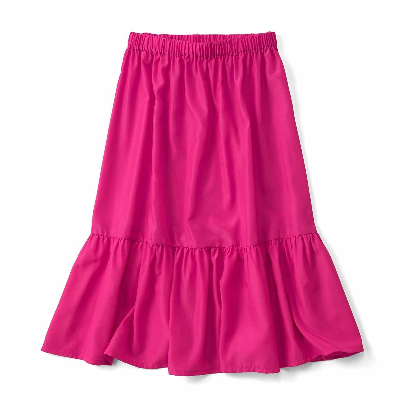 メインでも重ね着でも! ペチスカート〈ピンク〉