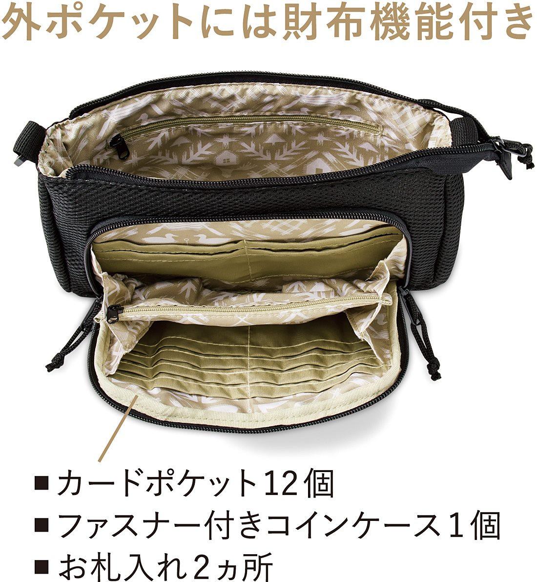Kraso[クラソ] SAANA JA OLLI サーナ ヤ オッリ 財布も兼ね備えたクッション入りメッシュショルダーバッグの会