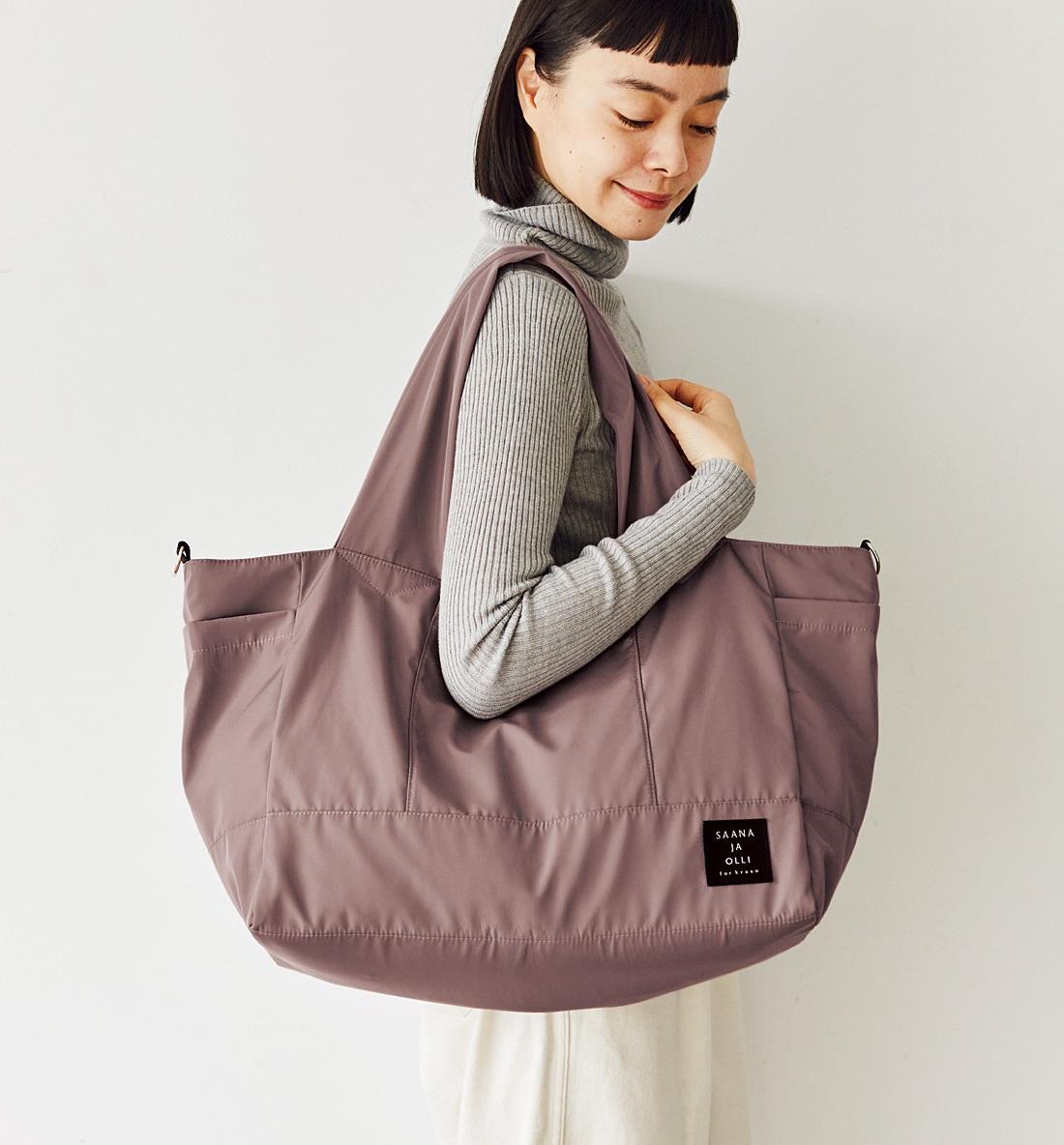 Kraso[クラソ] SAANA JA OLLI サーナ ヤ オッリ やわらか&軽い生地でからだにフィット 7つポケットの大きな2-WAYバッグの会