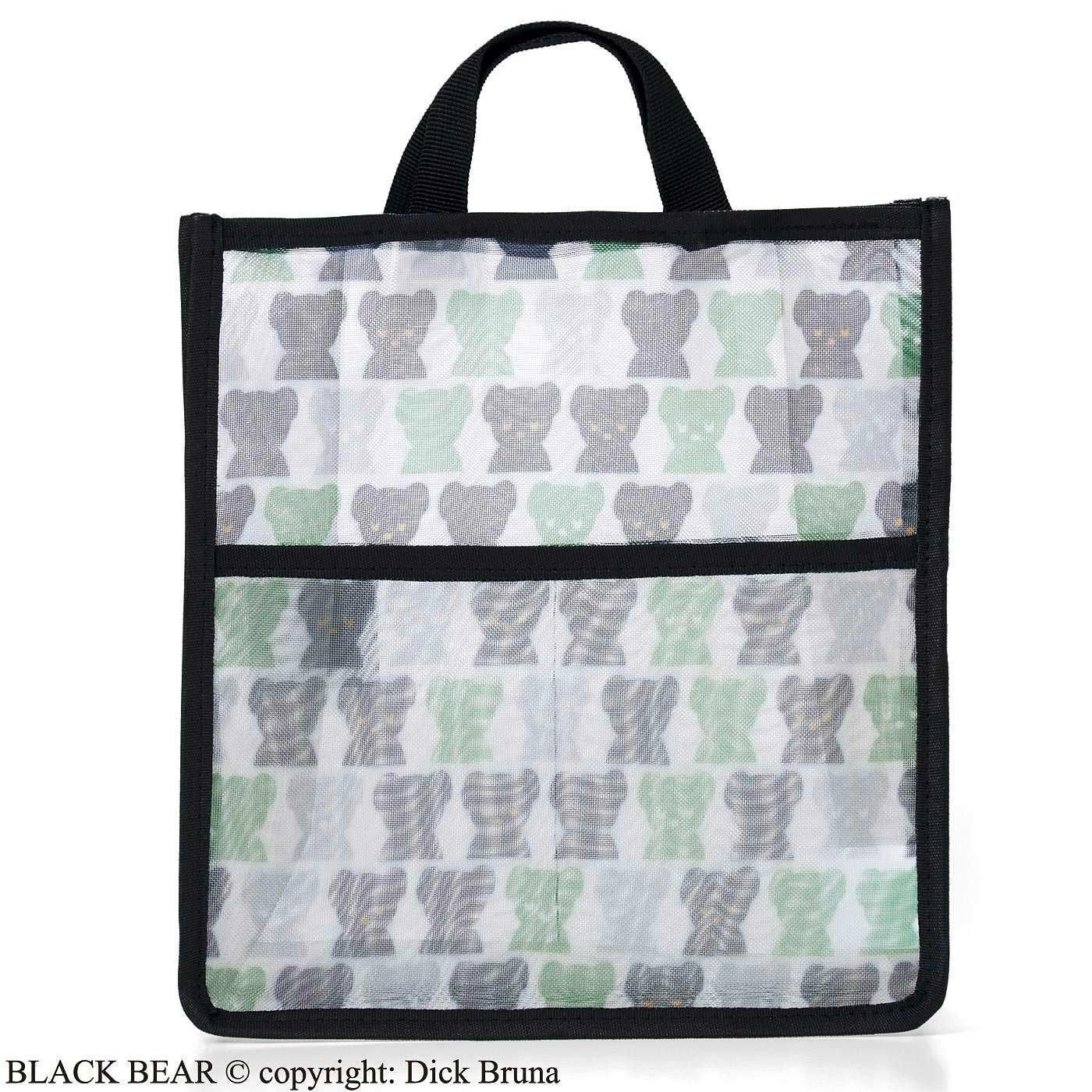ブラック・ベア スパポーチにもなるメッシュ素材のバッグインバッグ