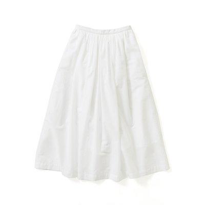 <フェリシモ>avecmoi ギャザースカート〈ホワイト〉【送料無料】