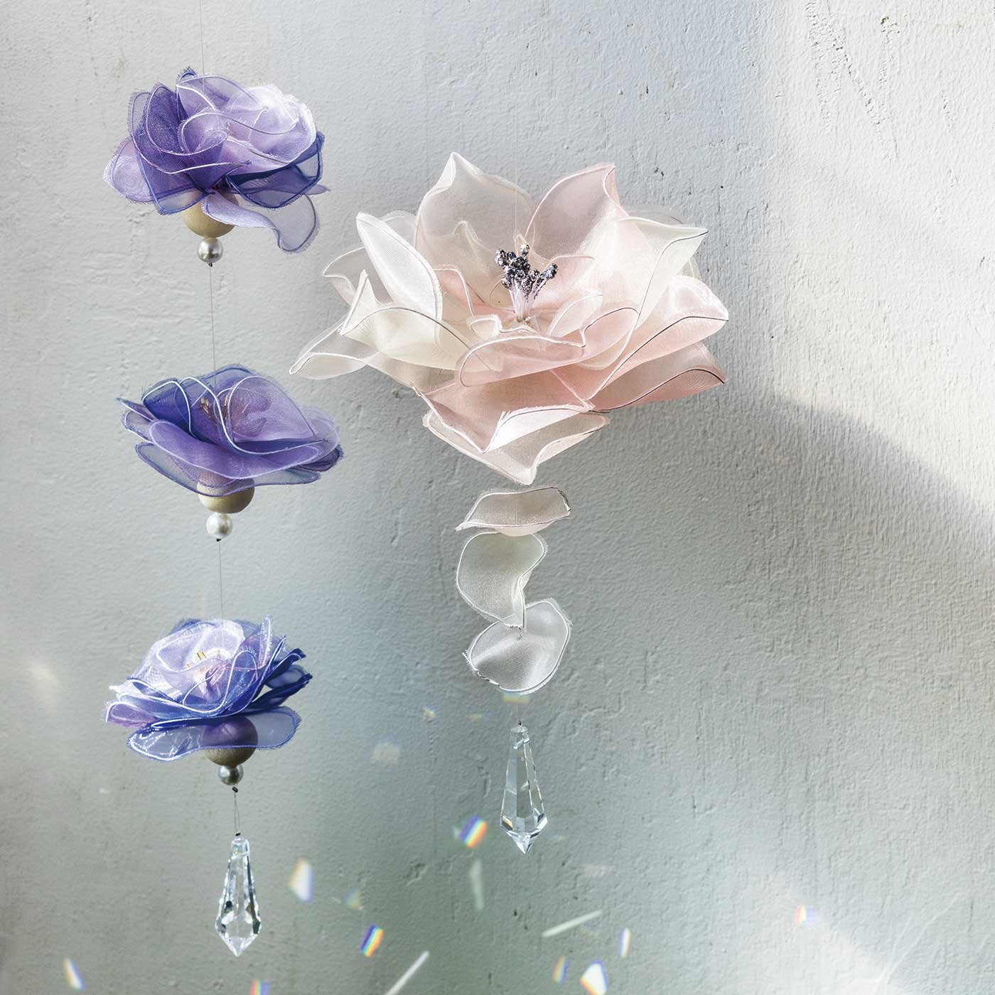 オーガンジーがお部屋で舞う お花のサンキャッチャーキットの会