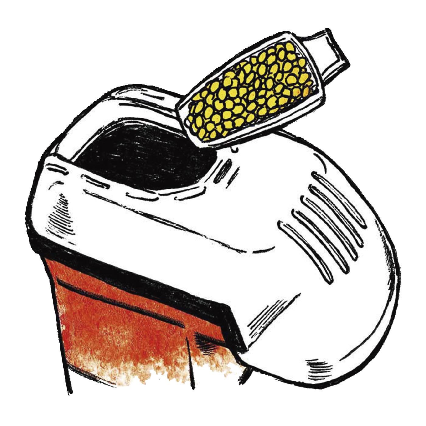ポップコーン豆を本体加熱部に投入