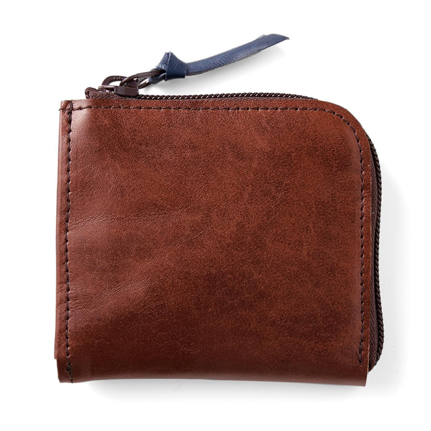 ポケットにすっぽり入って便利!ヴィンテージ感あふれる本革ミニマム財布〈ヴィンテージブラウン〉