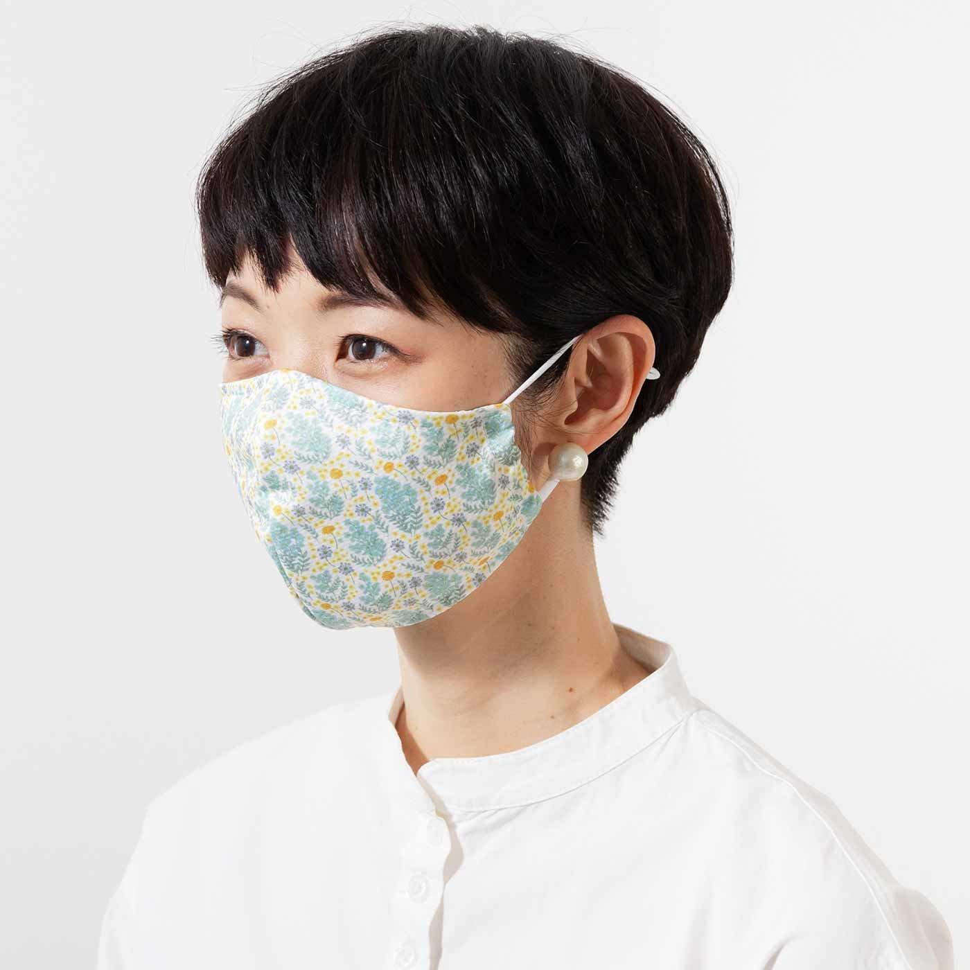 ぬらして振ってクールダウン 抗菌防臭ひんやりメッシュマスクセット〈花柄〉の会