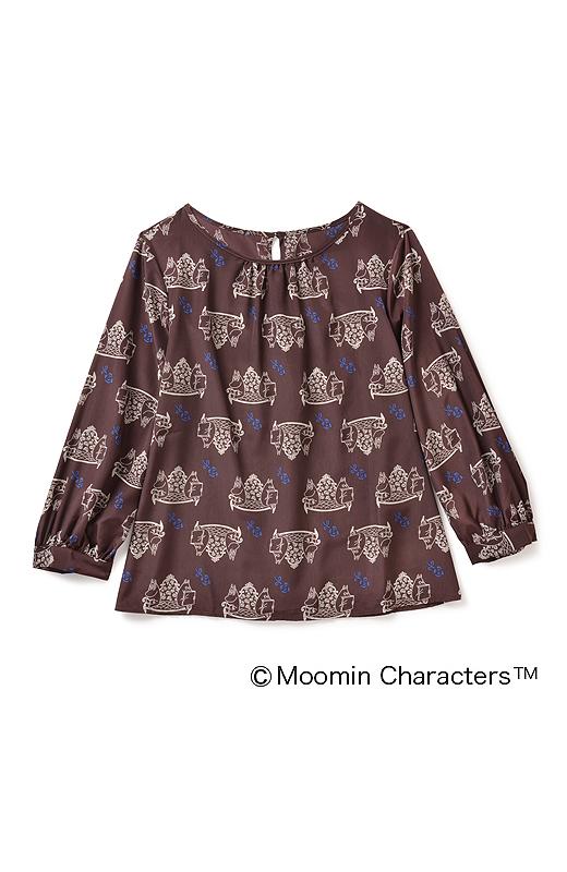 一見何の柄かわからないけど、じ?っくり見れば…ムーミン!ふんわりした袖の形もナイス。
