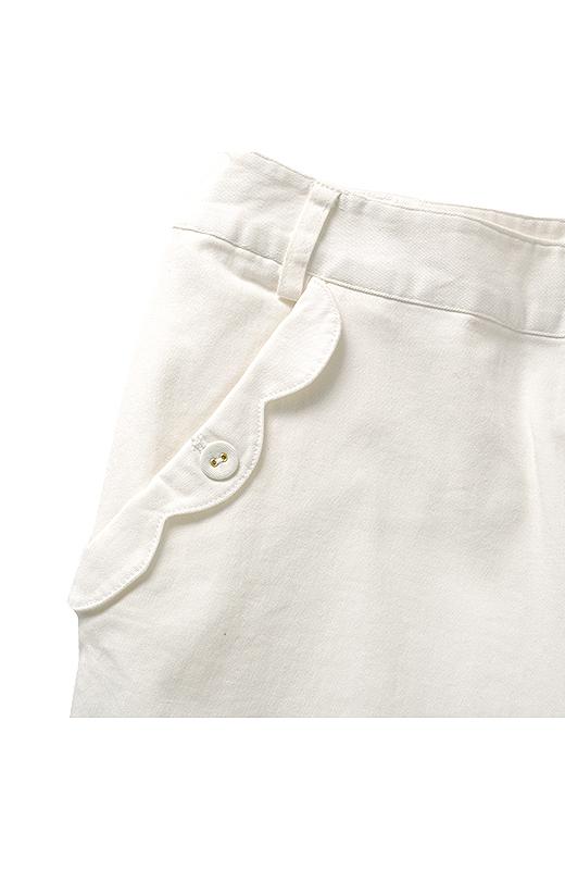 前ポケット口の波形デザインにイケダンもドキドキ。