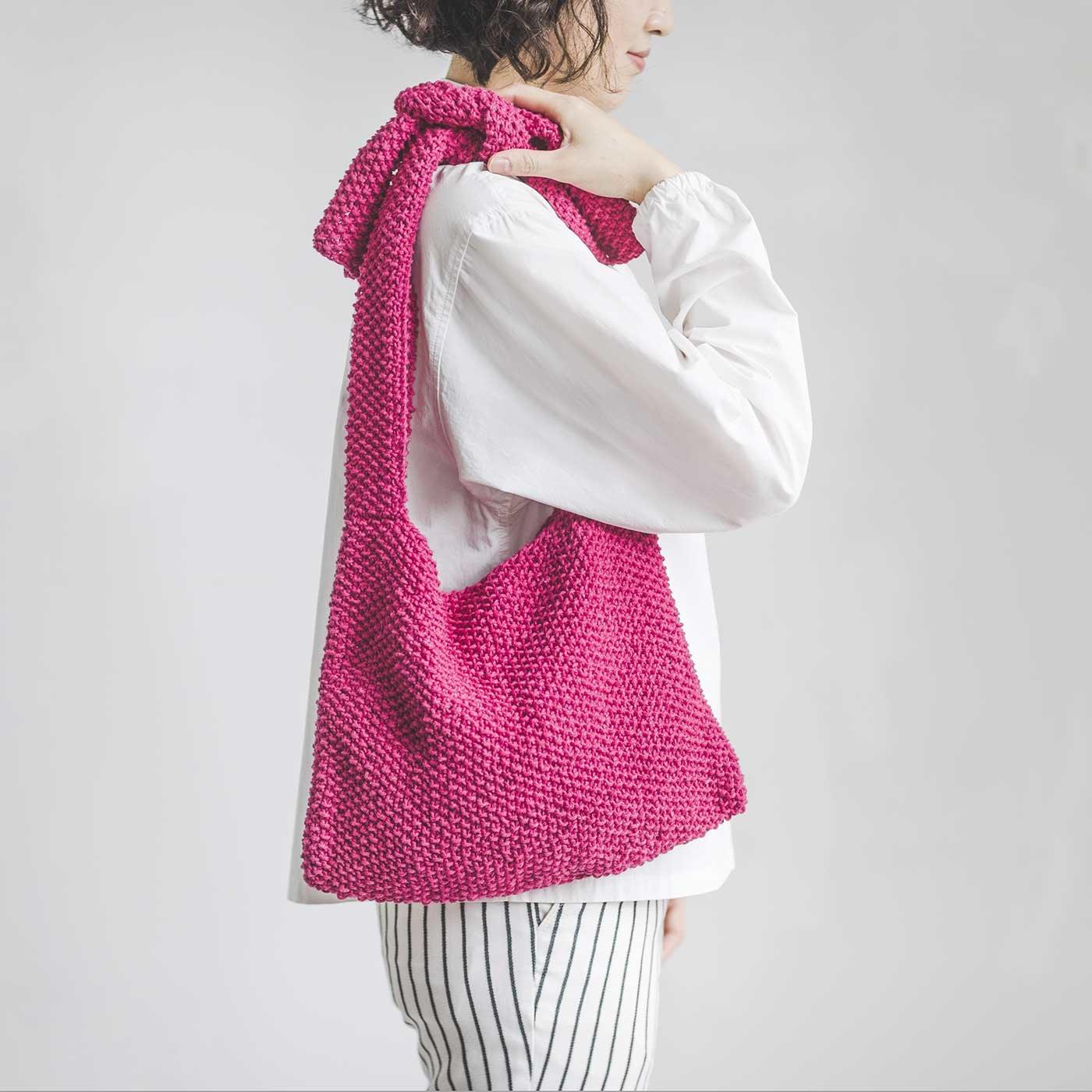 DMC エコバルバンテで編む かのこ編み肩かけバッグキット