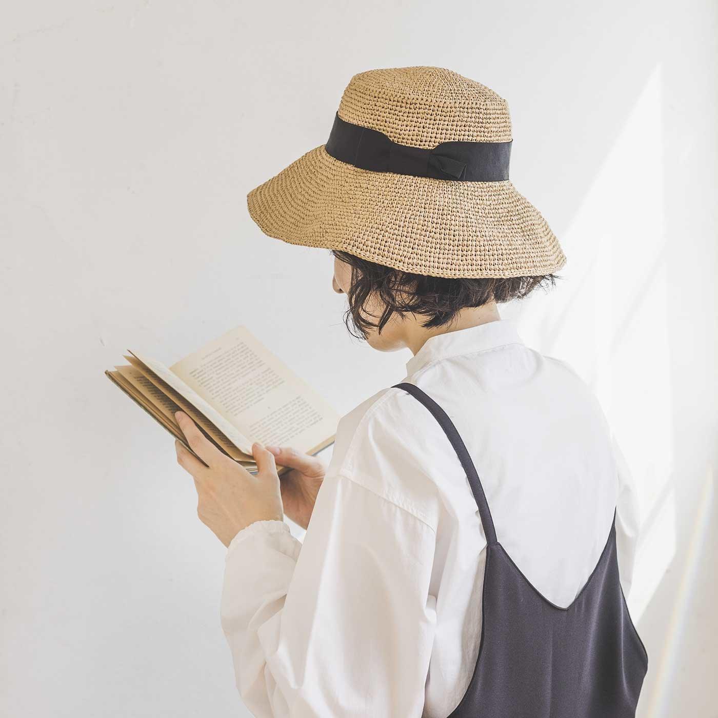 ロングブリムの帽子が編める SASAWASHI FLAT糸と冊子「Summer hat」