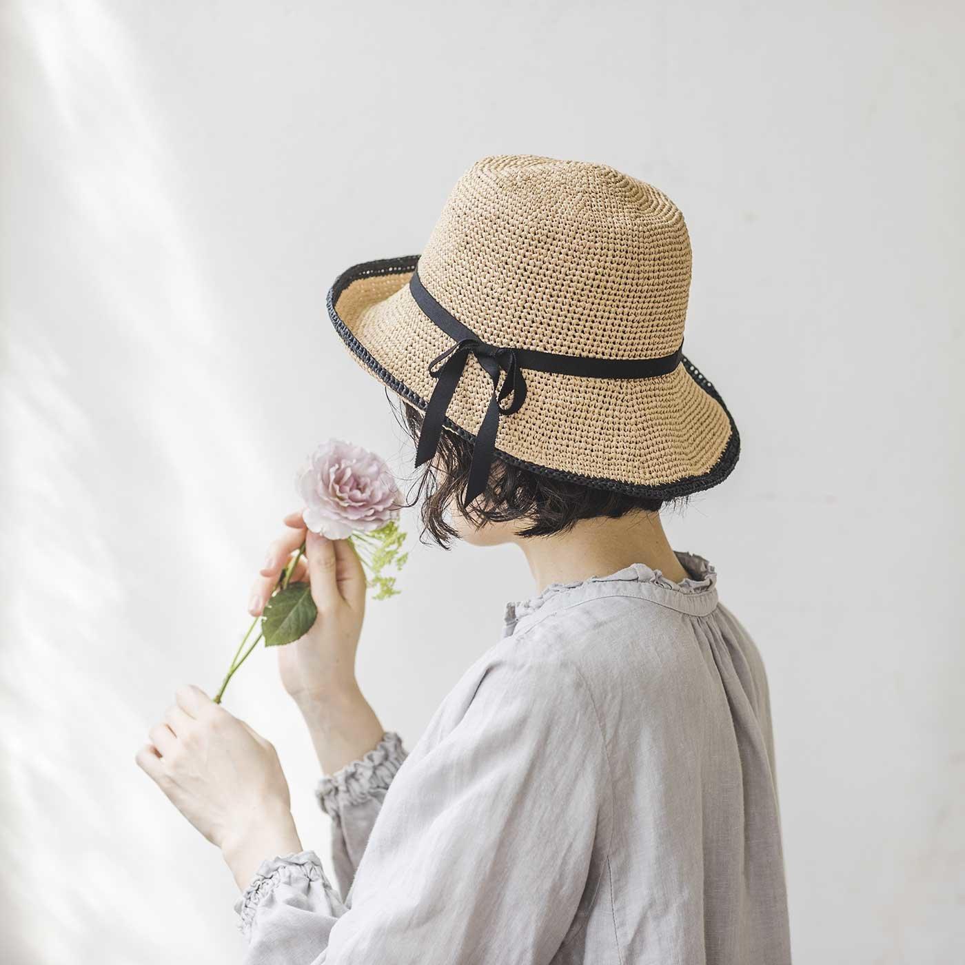 エッジラインハットが編める SASAWASHI FLAT糸と冊子「Summer hat」