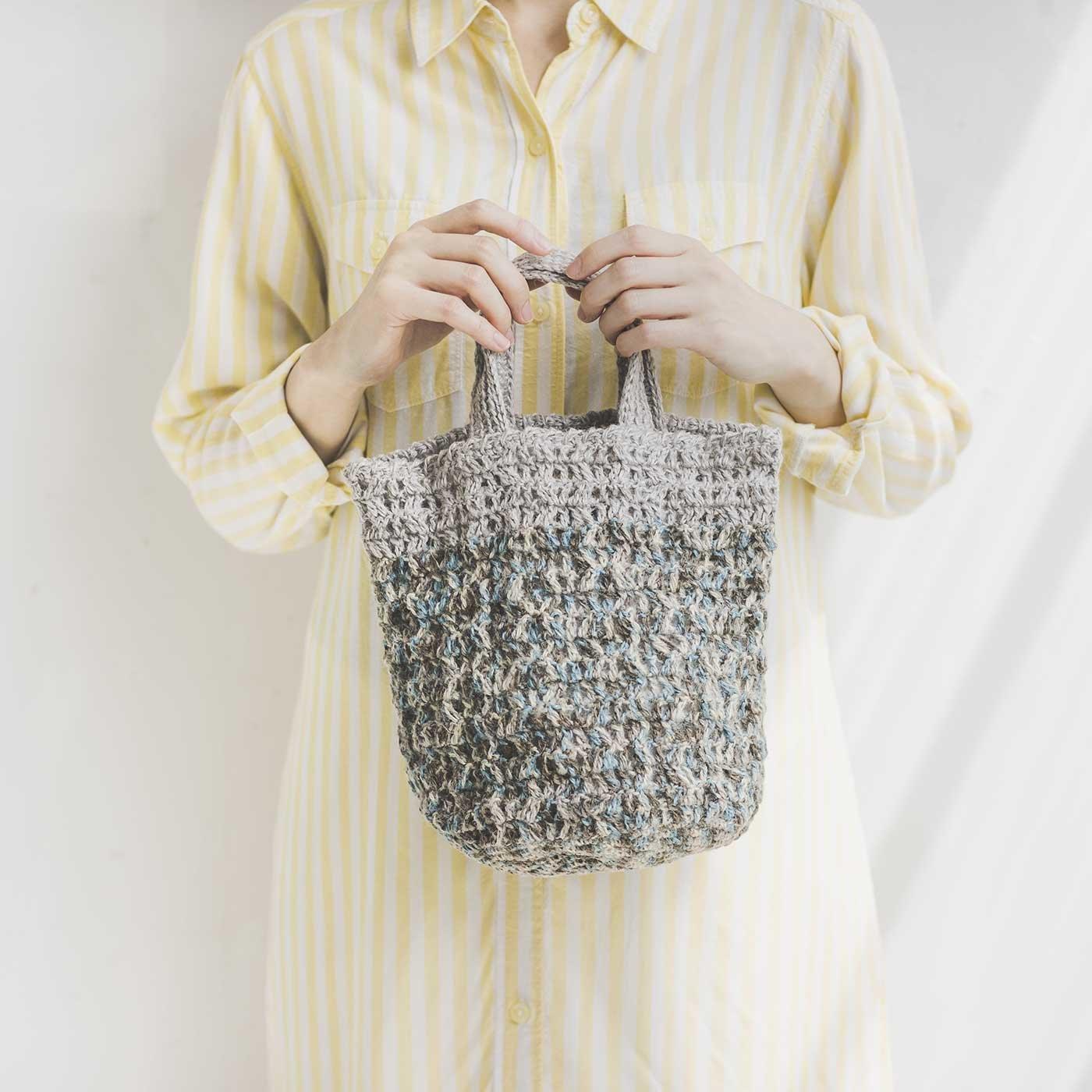 ナチュラルな糸ケナフで編む 丸底トートバッグキット