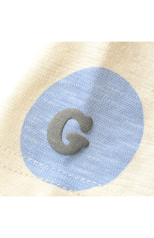 ゴリさんオリジナルロゴの「G」を発泡プリントで表現。