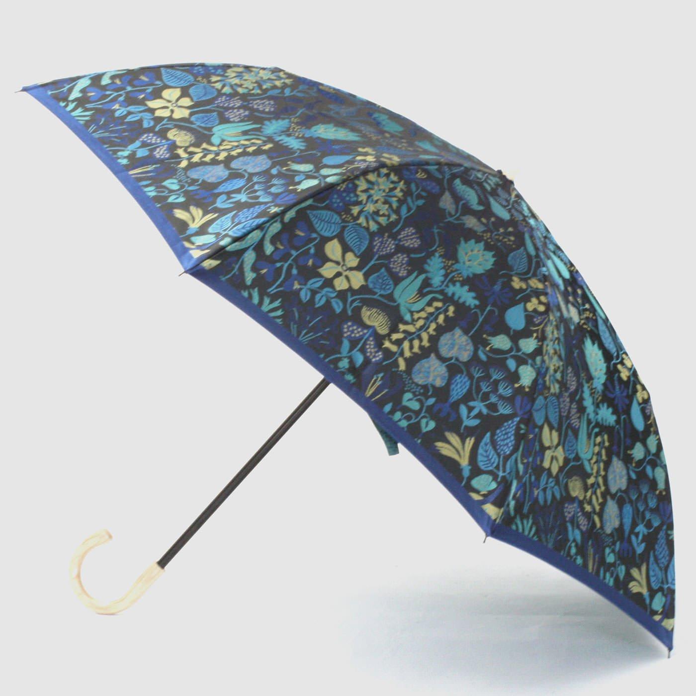 スティグ・リンドベリ 甲州織の折り畳み傘〈ハーバリウム〉ブルー