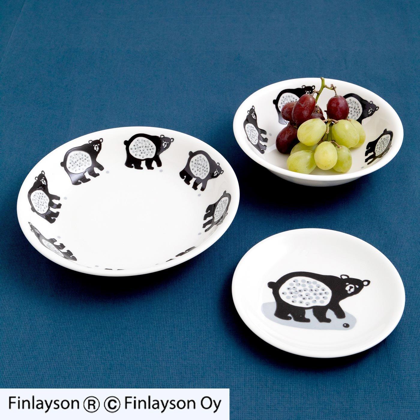 フィンレイソン クマの3種の食器セット〈オッツォ〉