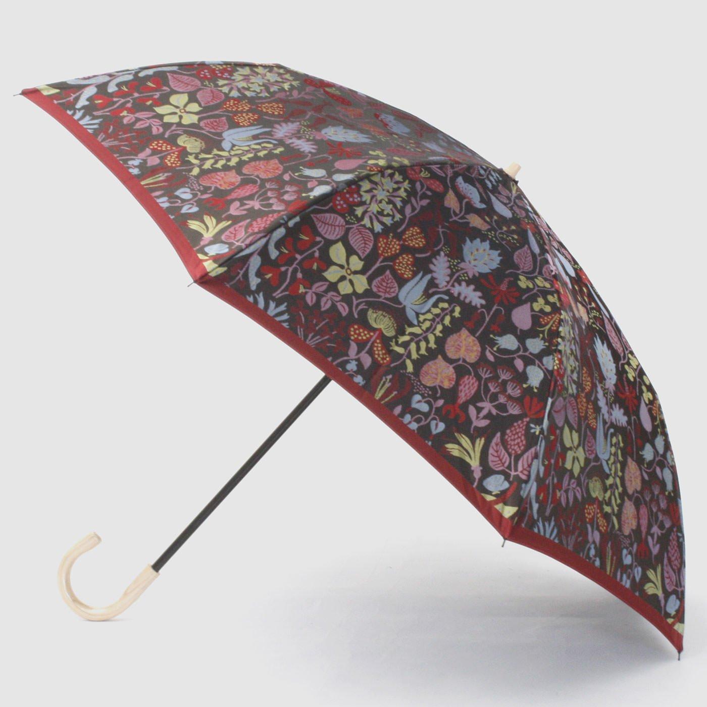 スティグ・リンドベリ 甲州織の折り畳み傘〈ハーバリウム〉レッド