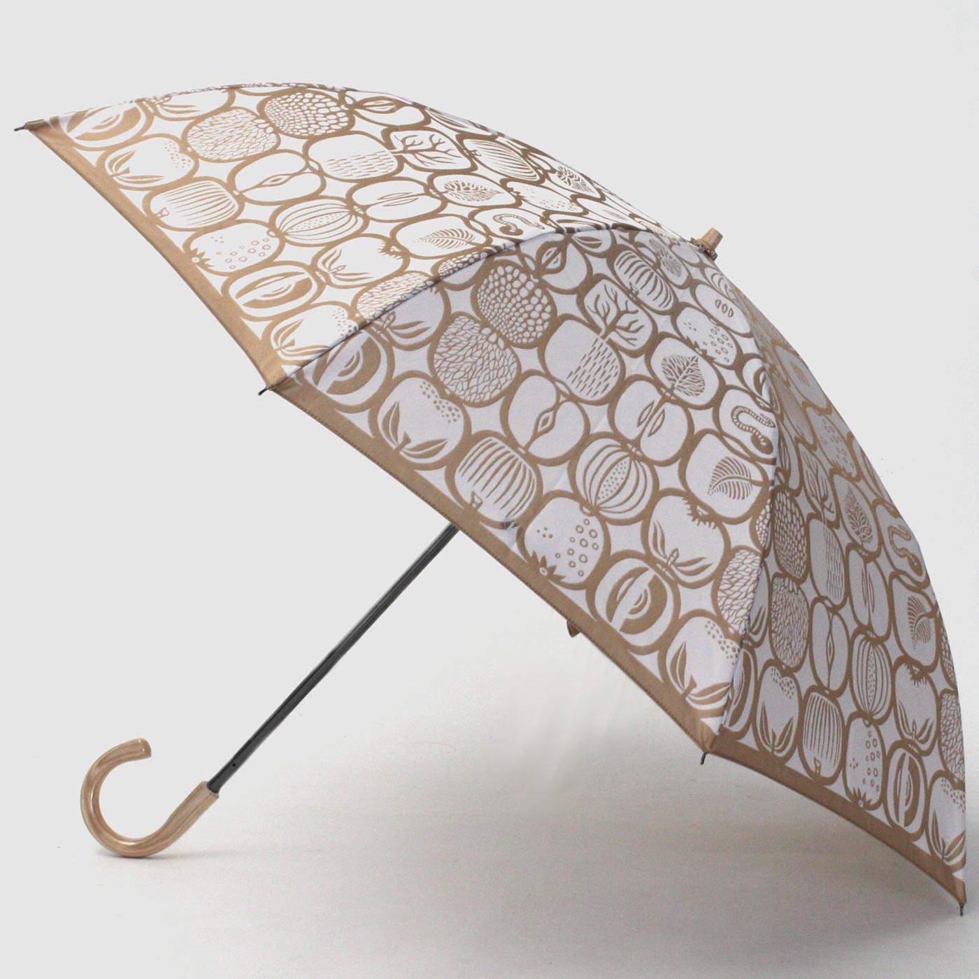 スティグ・リンドベリ 甲州織の折り畳み傘〈フルクトラーダ〉ホワイト×ゴールドベージュ
