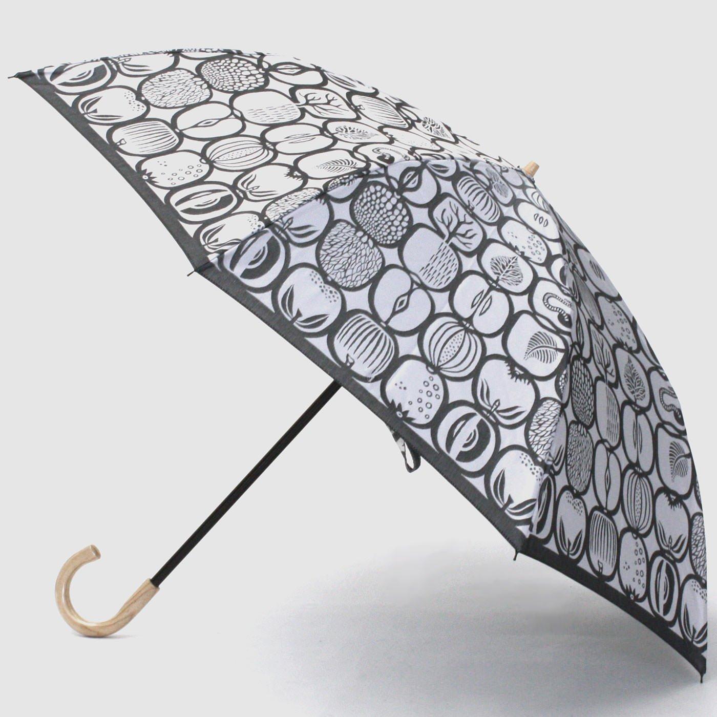 スティグ・リンドベリ 甲州織の折り畳み傘〈フルクトラーダ〉ホワイト×ブラック