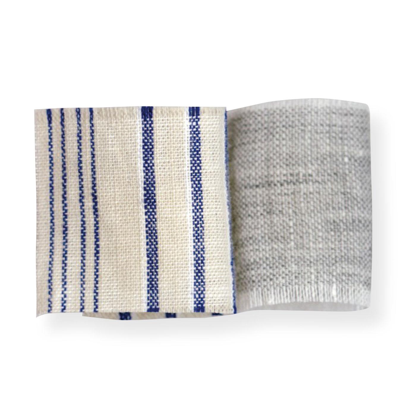 麻と綿の混紡素材。風通しがよく、洗うほどに肌にしっくり、なじんできます。