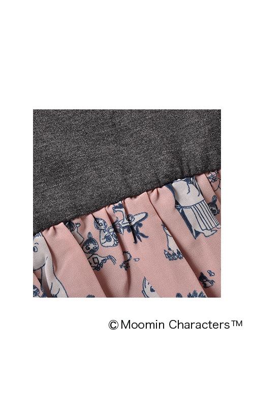 プリント部分にはしわになりにくい、さらりとしたポリエステルの布はく生地を使っています。