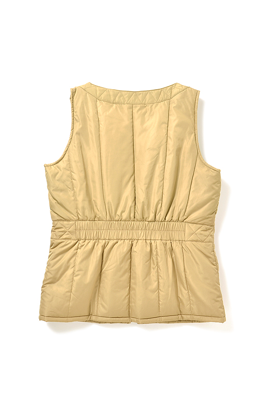 BACK ウエスト後ろはゴム仕様で快適フィット。コートの中に着てもガサガサしません。
