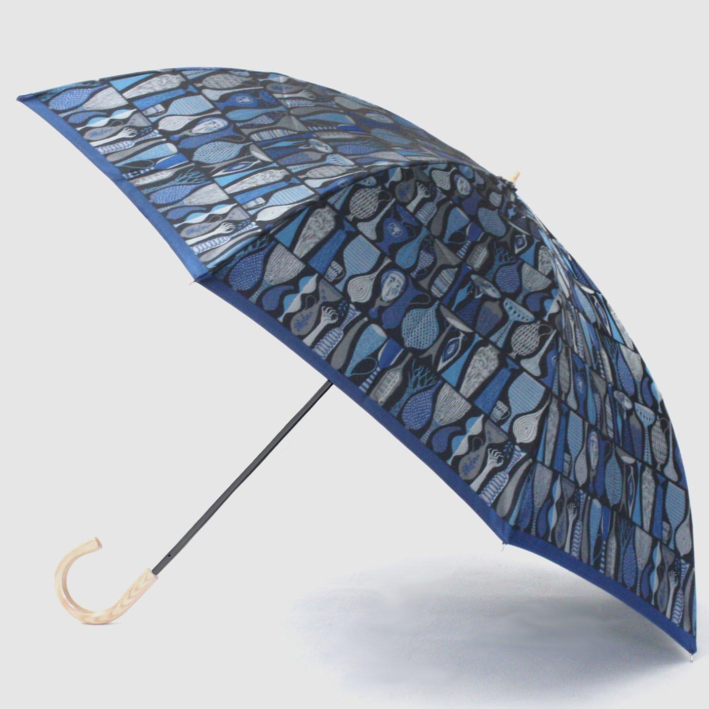 スティグ・リンドベリ 甲州織の折り畳み傘〈ポテリー〉ブルー