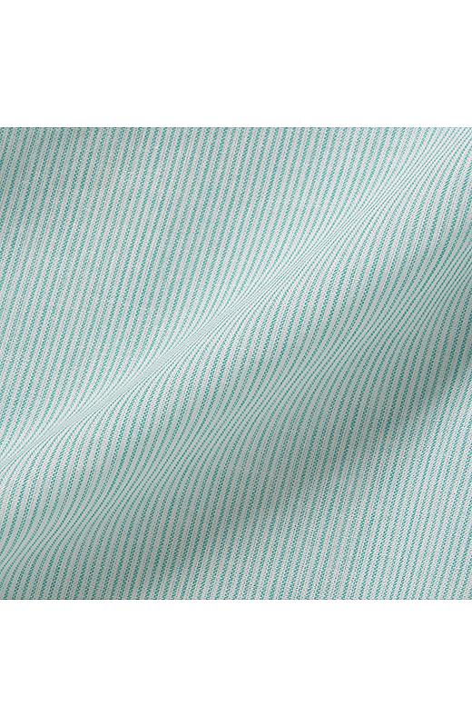 先染め柄の綿100%素材がさらりと快適。