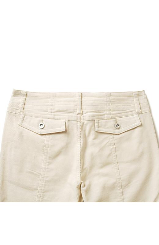 ポケットをスモールさんに合わせて、高め位置にして美尻見せ。ポケットサイズもスモールさん仕様で小さく!