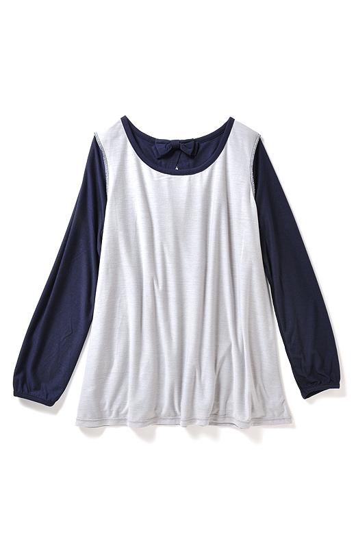 身ごろ部分は透けないドッキング仕立て。一枚で着られるから、暑い日も快適です。