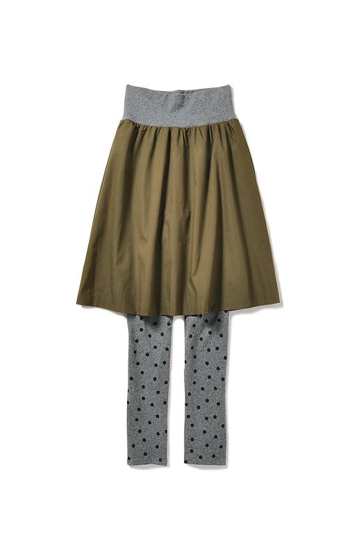 ふんわりスカートで体形カバー。水玉も愛らしいね。