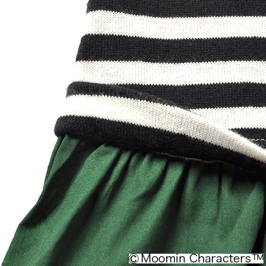 トップスとスカートをはいているみたいだけれど、実はワンピ。一枚着るだけでおしゃれに決まるから、お寝坊さんにはうれしいかぎり。