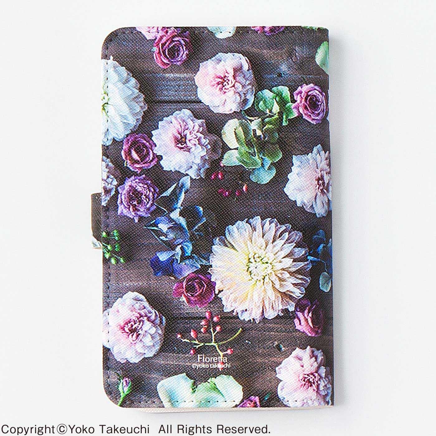 〈ウッディーフラワー〉裏側にまでぐるりと花模様が。
