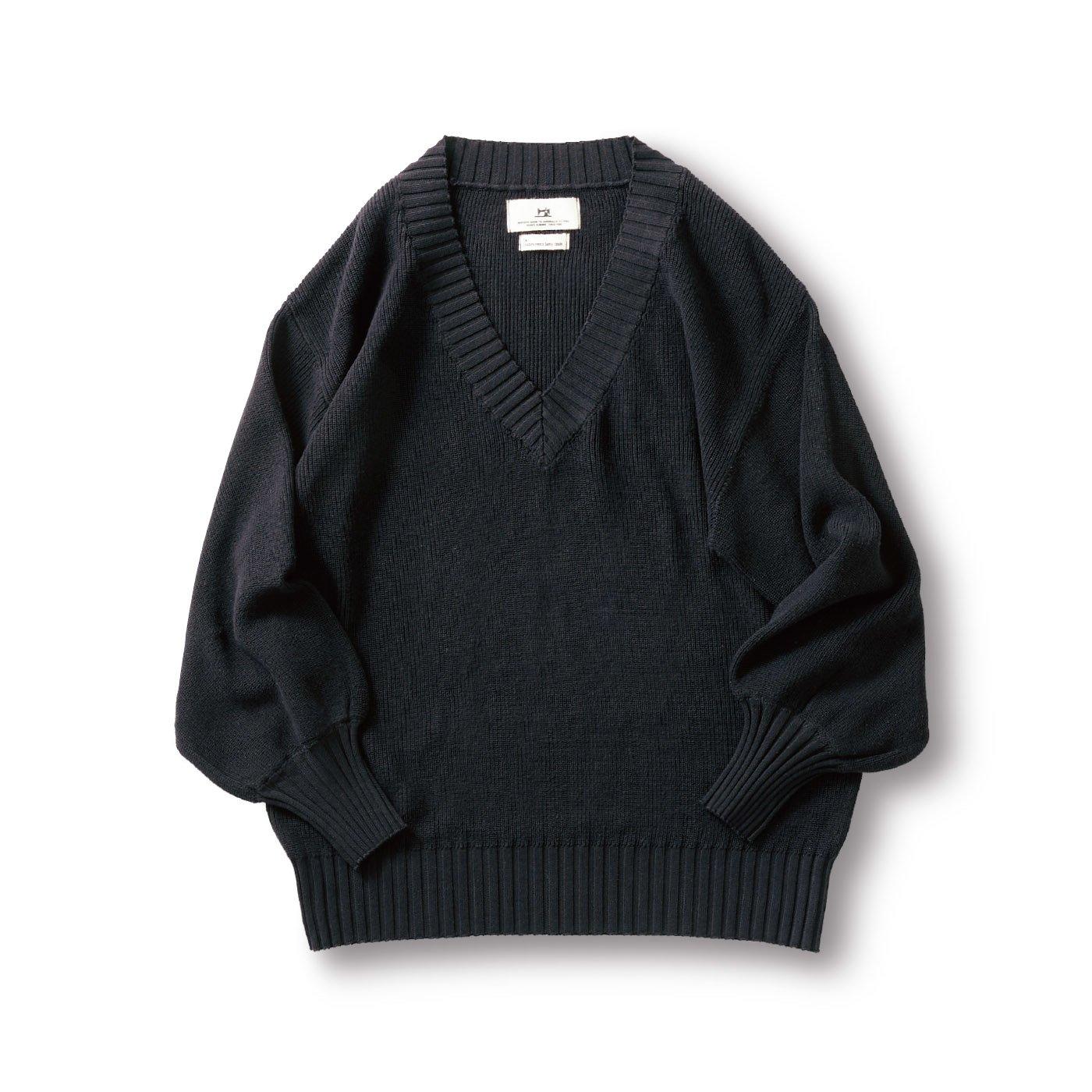 サニークラウズ kazumiのワイドVネックセーター〈レディース〉