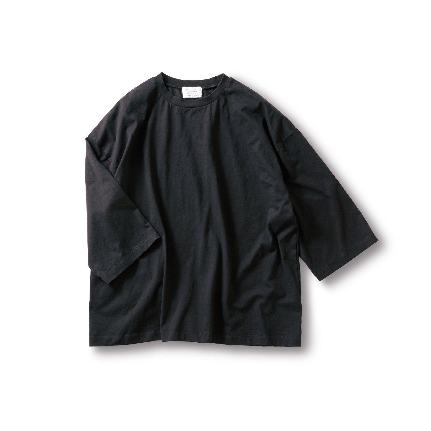 サニークラウズ 半端袖Tシャツ〈メンズ〉黒