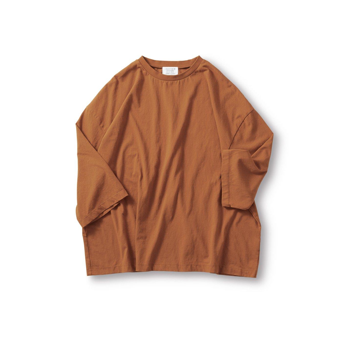 サニークラウズ 半端袖Tシャツ〈メンズ〉レンガ