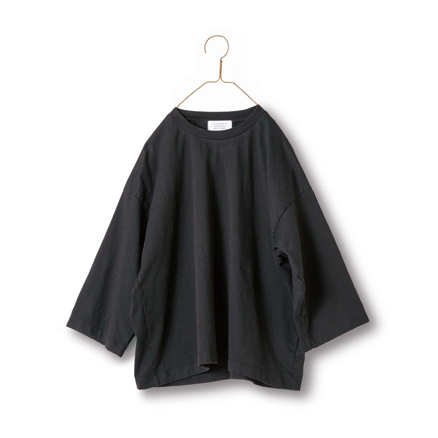 サニークラウズ 半端袖Tシャツ〈レディース〉黒