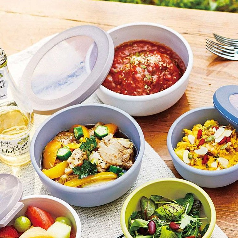 保存・食卓・お弁当まで マルチに使える ピチッと閉まる保存容器〈M〉の会