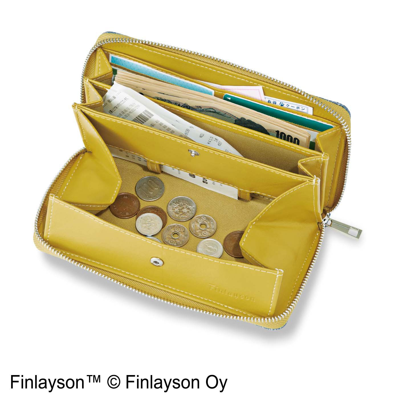 フィンレイソン×L'AMIPLUS コインスルー長財布〈TAIMI〉