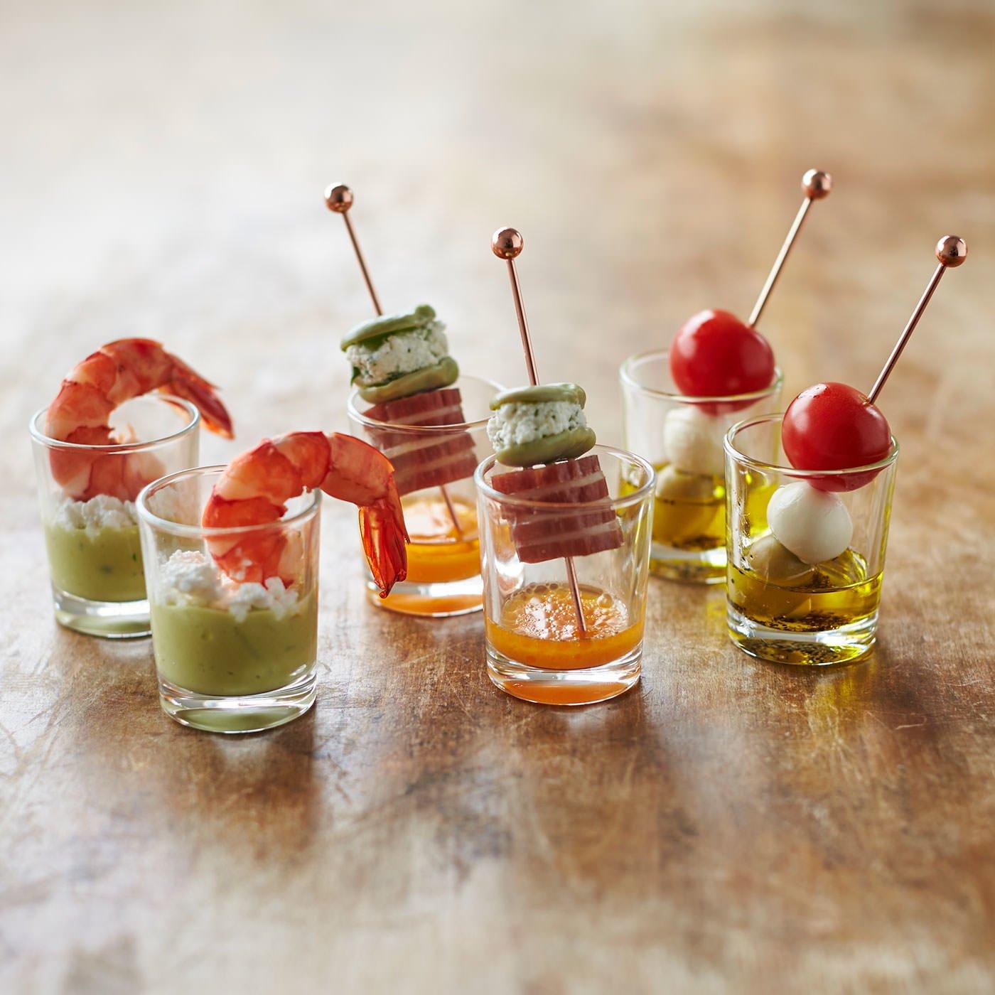 前菜やデザートにも使える フランス製ミニグラス6個セットの会
