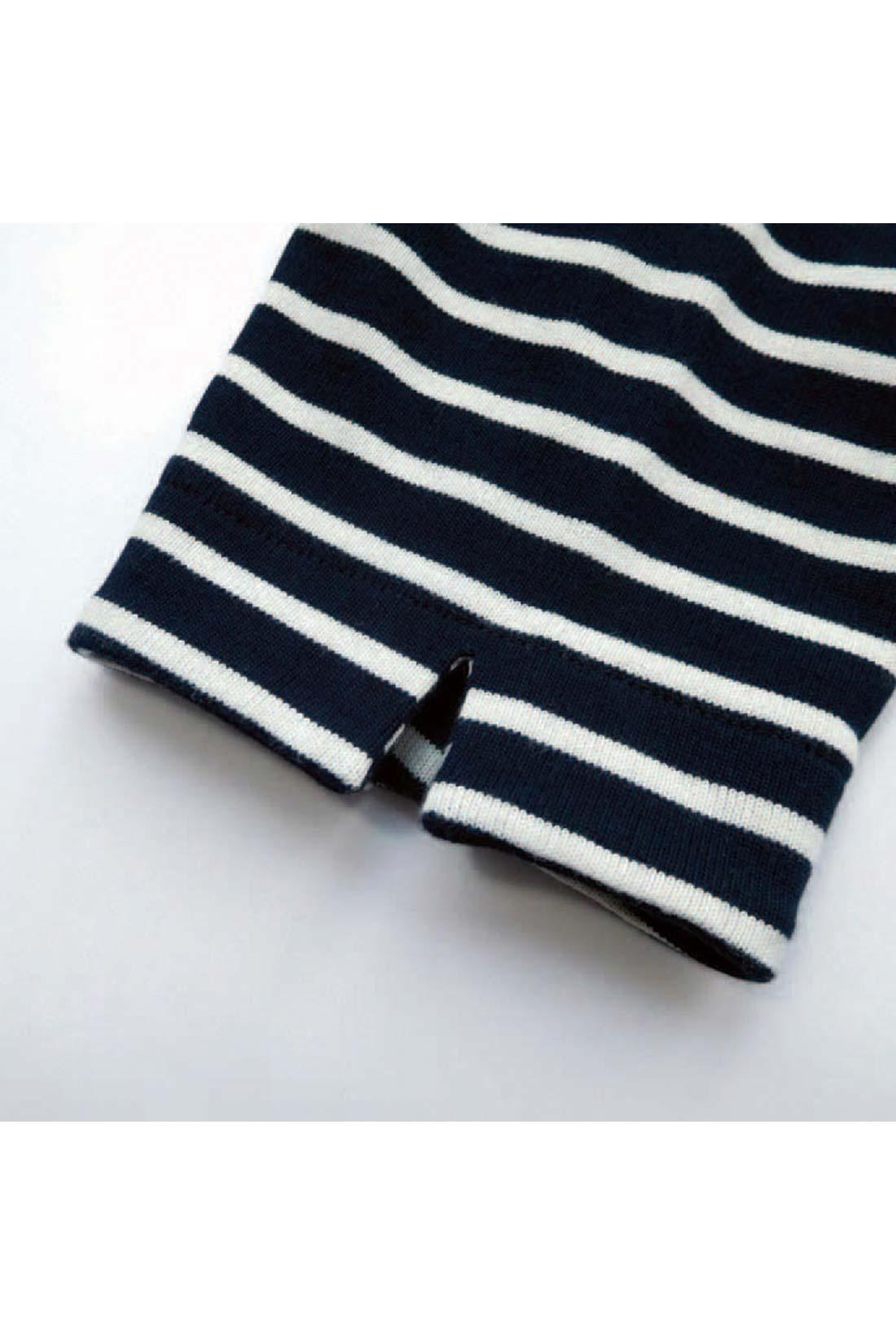 [袖の先には。]小さなスリットが。何気にかわいいね。 ※お届けするカラーとは異なります。