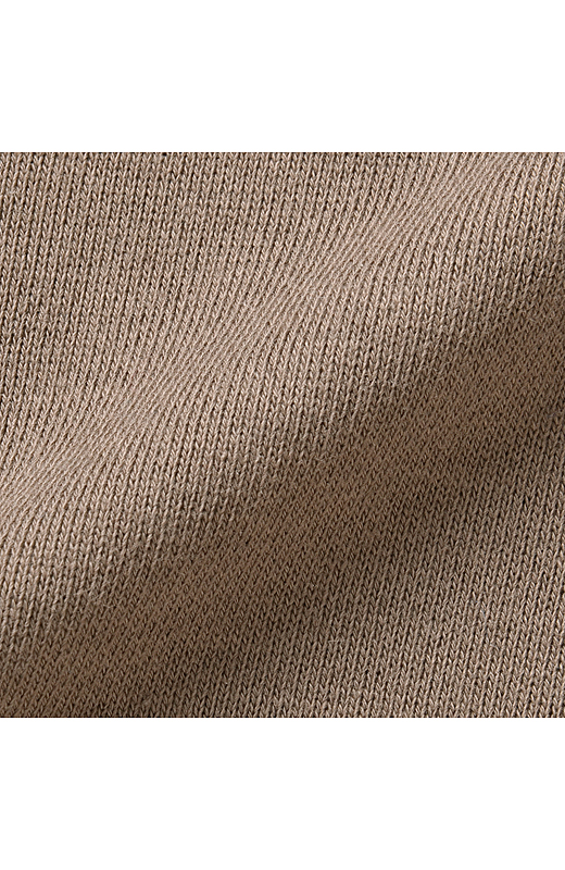 適度な厚みの裏毛スウェット素材。