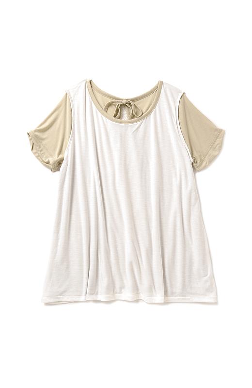 裏側 身ごろ部分は透けないドッキング仕立て。一枚で着られるから、快適です。