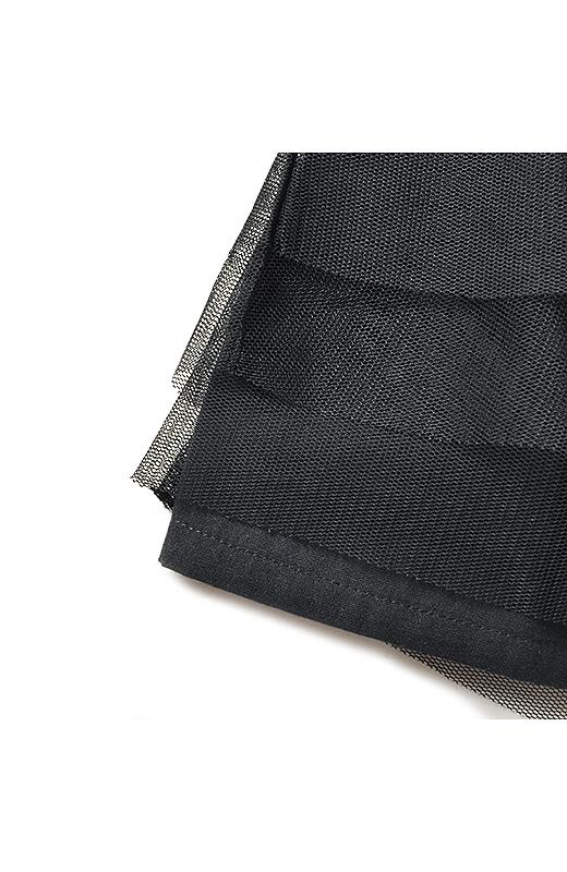スカート部分はふんわりチュールを重ねました。