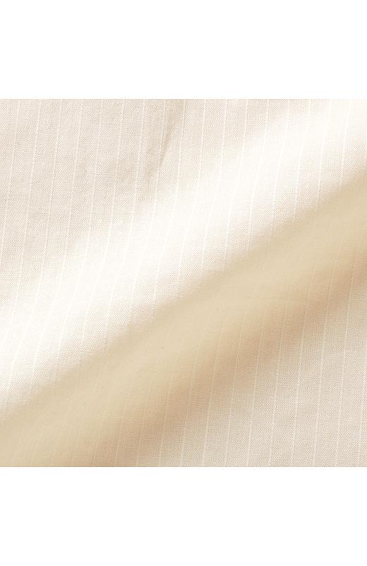 心地よいコットン100%素材に、落ち着いた織り柄で表情を出しました。