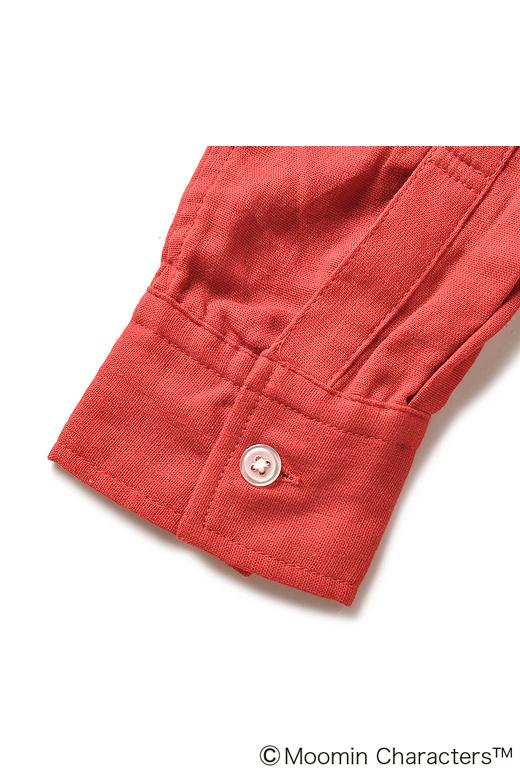 """メンズのシャツなどと同じように、""""剣ポロ""""(袖口あきの重なり部分の布)もカフスも付いています。"""