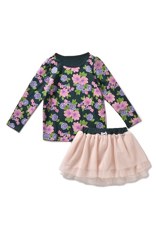 デイリーに着まわすなら花柄トップスにスリムパンツを合わせて。キュロットはどんなトップスでも即ガーリーな着こなしに!