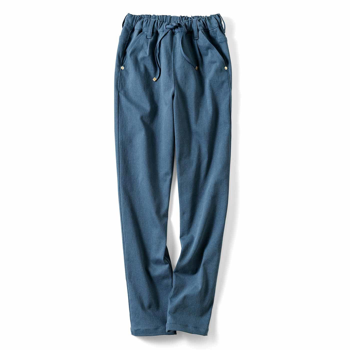 リブ イン コンフォート あったかパンツの新定番! 両面微起毛のやさしいねパンツ〈ブルー〉